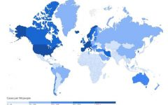 A map containing the recorded number of cases for each country in the world. Image Courtesy of Google.