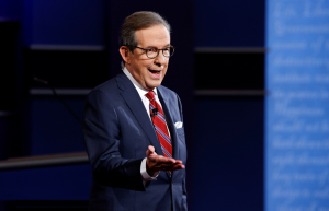 Photo of Chris Wallace, the host of Fox News Sunday and the moderator of the First Presidential Debate on September 29. Image Courtesy of NBC News.