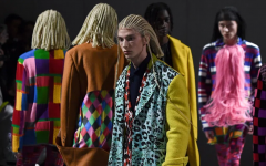 White models in Japanese fashion brand Comme des Garcons' show wear cornrow wigs this past January. Photo from Getty Images.
