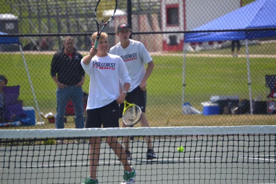 Schuyler Wilcox and Lucas Fedam are the doubles team pictured