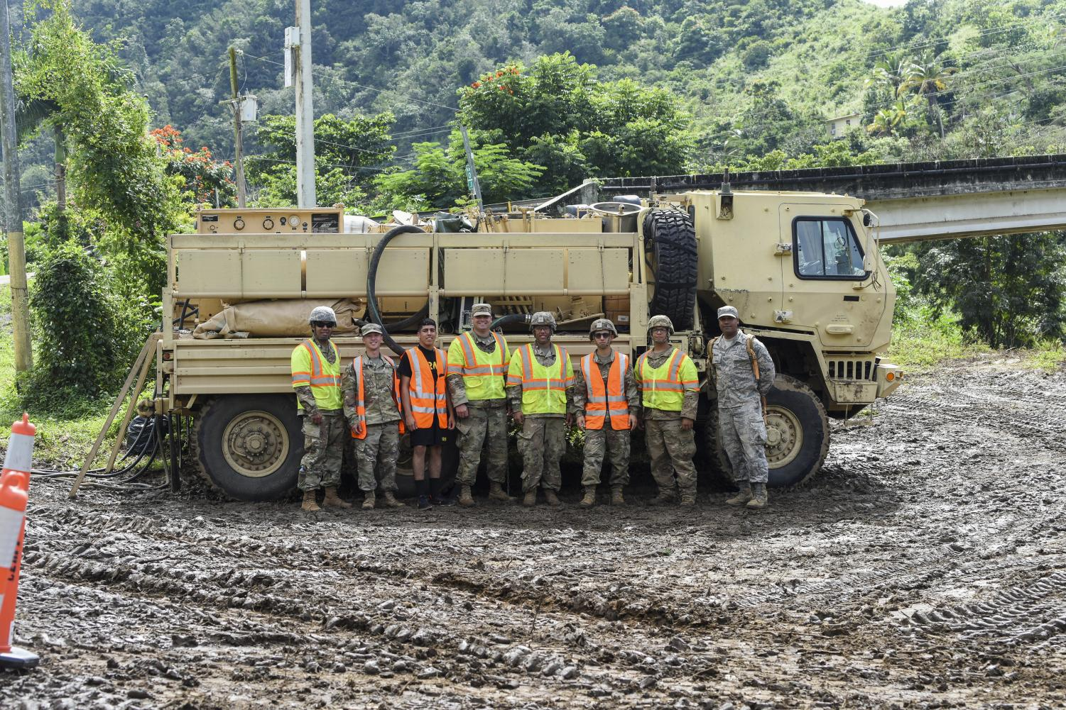 Puerto Rico National Guard responds to earthquake series on January 8, 2020.