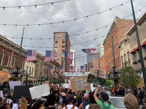 Protesters in Denver.