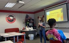 Laferrara teaching her Student Council Class