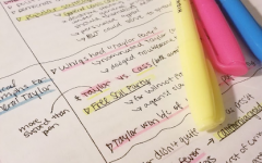Reviewing and highlighting notes before finals can be a helpful study trick.