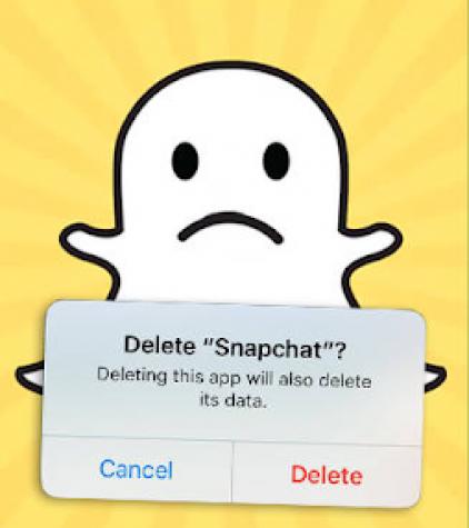 Deleting Snapchat. Photo from PopBuzz.com