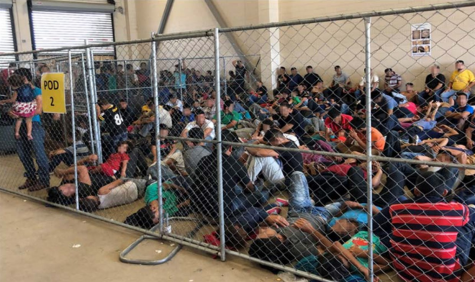 """Overcrowding areas full of families observed by the Department of Homeland Security Office of Inspector General on June 10, 2019, at Border Patrol"