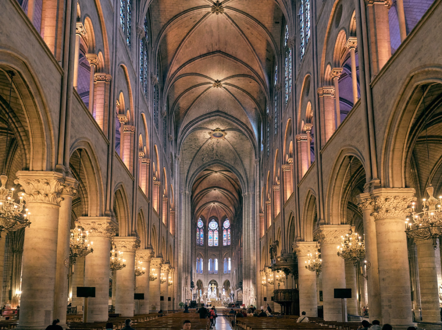 The Notre Dame Cathedral was one location students on the trip to France usually get to visit. Unfortunately, due to the pandemic, students this year weren't able to have this experience. (Pedro Szekely)