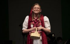 Aspen McCart (Sr.) as Little Red Riding Hood, performs