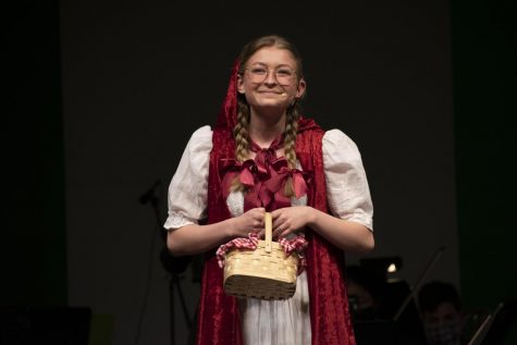 "Aspen McCart (Sr.) as Little Red Riding Hood, performs ""I Know Things Now"", from Into the Woods during the Friday show."