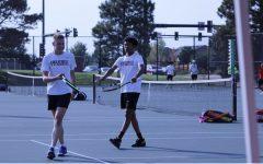 Tennis Swings it on Sr. Night