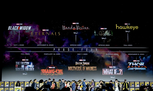 Marvel's line up as it was revealed at San Diego Comic-Con in 2019