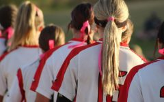 Eaglecrest lines up shortly before the game.
